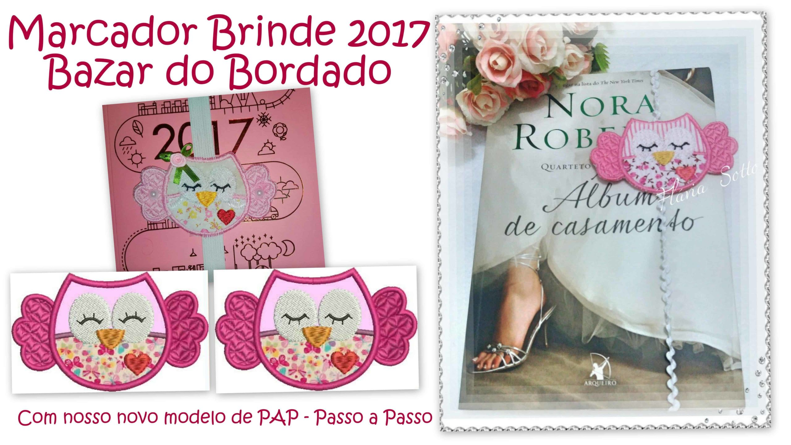 Matriz de Bordado Marcador de Página -100% gratuito – Download Imediato
