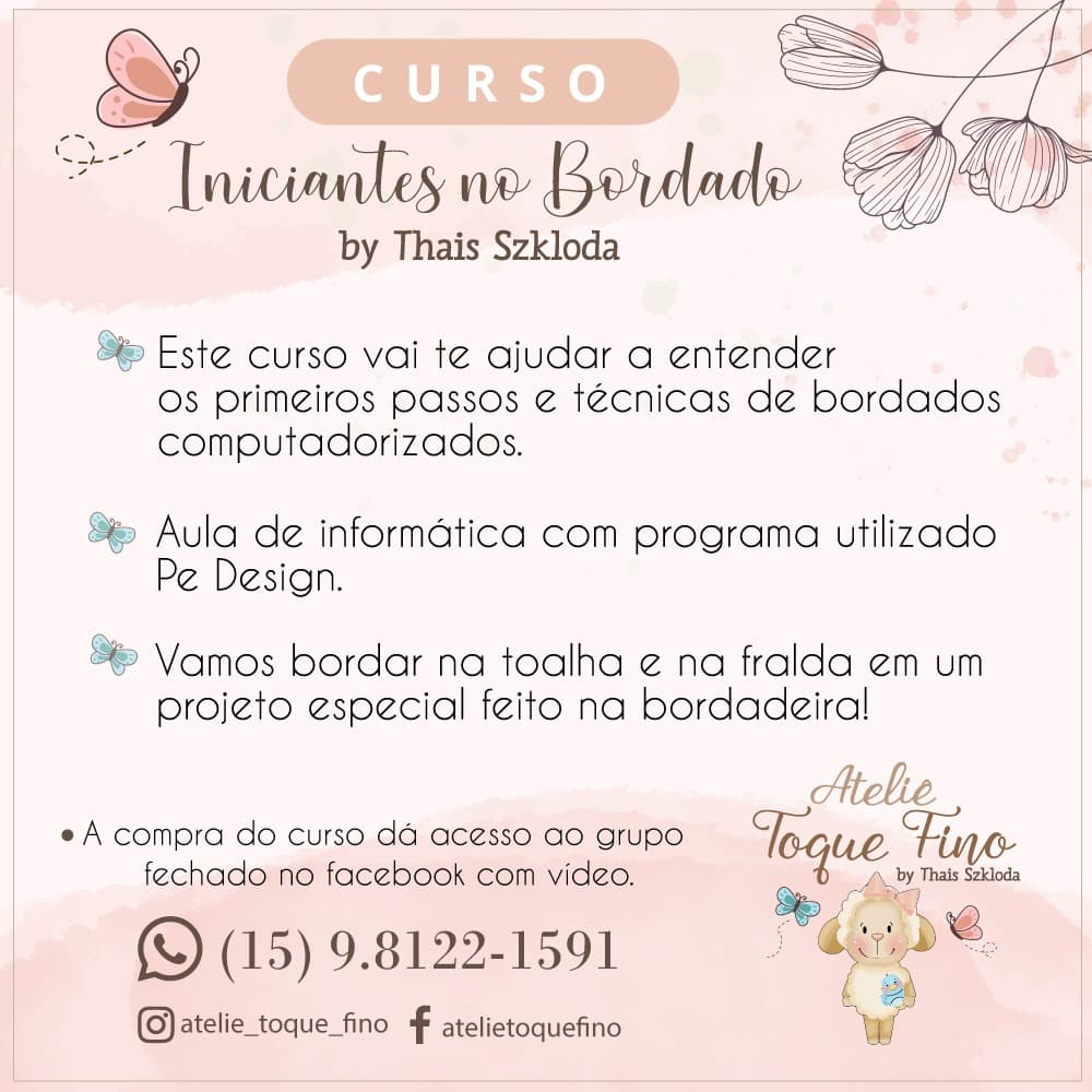 Curso Iniciantes no Bordado