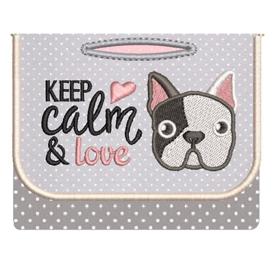 PORTA SAQUINHO PET CACHORRINHO KEEP CALM === MATRIZ DE BORDADO ===