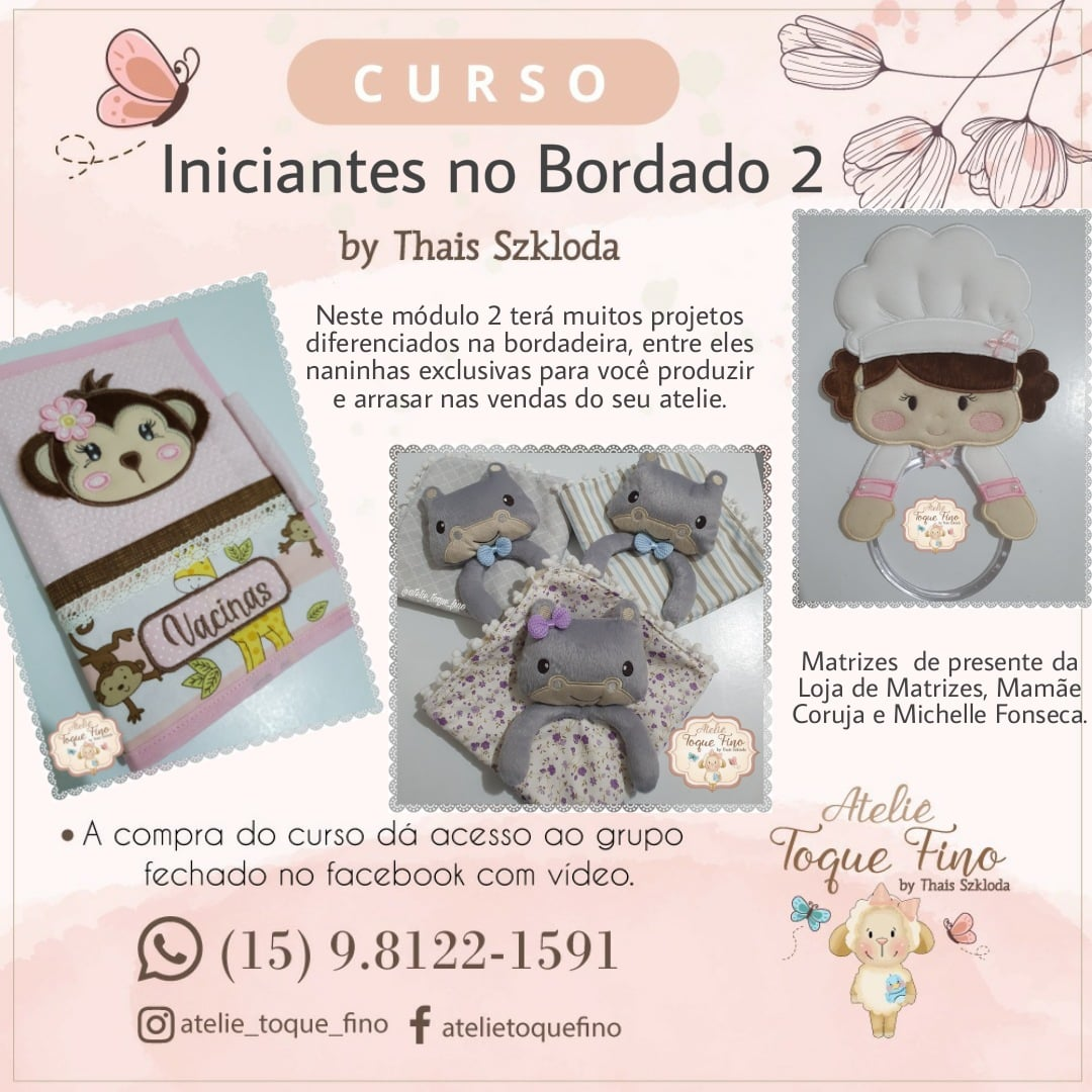 Curso Iniciantes no Bordado 2
